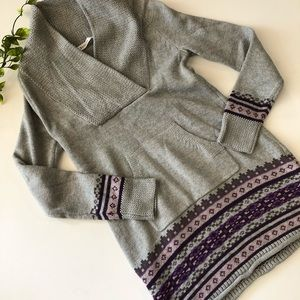 Athleta Gray Knit Tunic Sweater  Dress